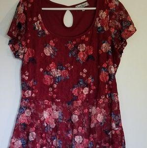 Flowy floral print top